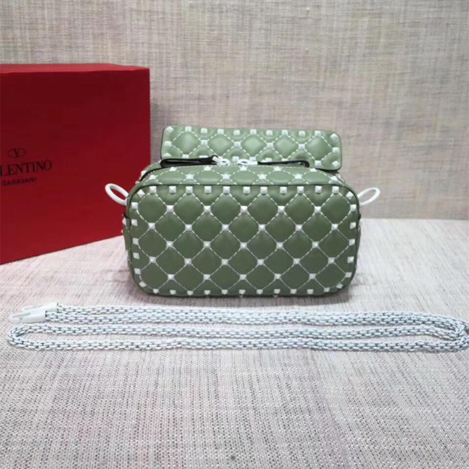 0286a13fd Valentino Free Rockstud Spike Camera Bag Light Green [RH0830] : Buy ...