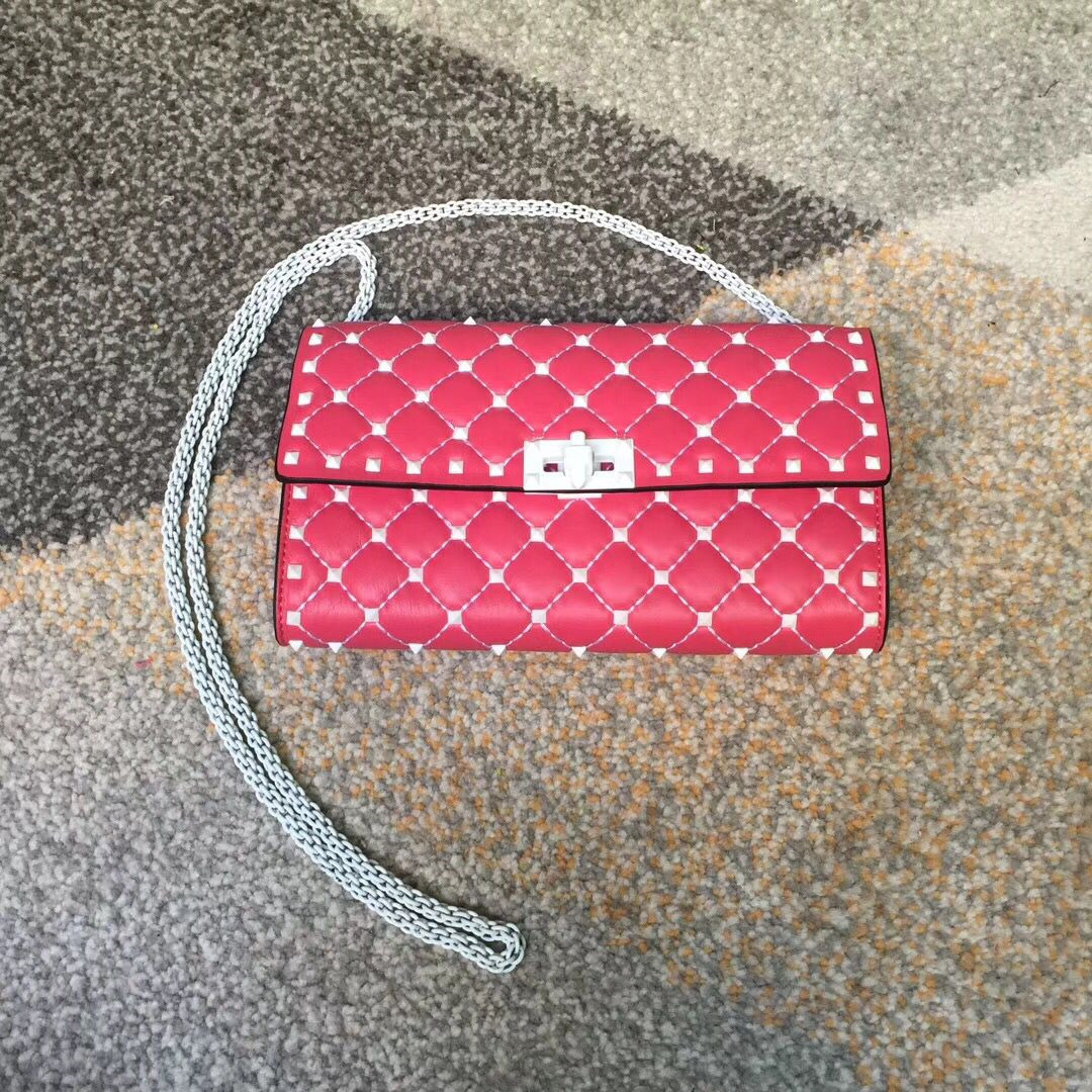 Valentino Free Rockstud Spike Chain Bag Pink