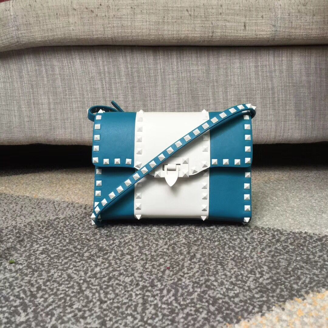 Valentino Free Rockstud Small Crossbody Bag Blue