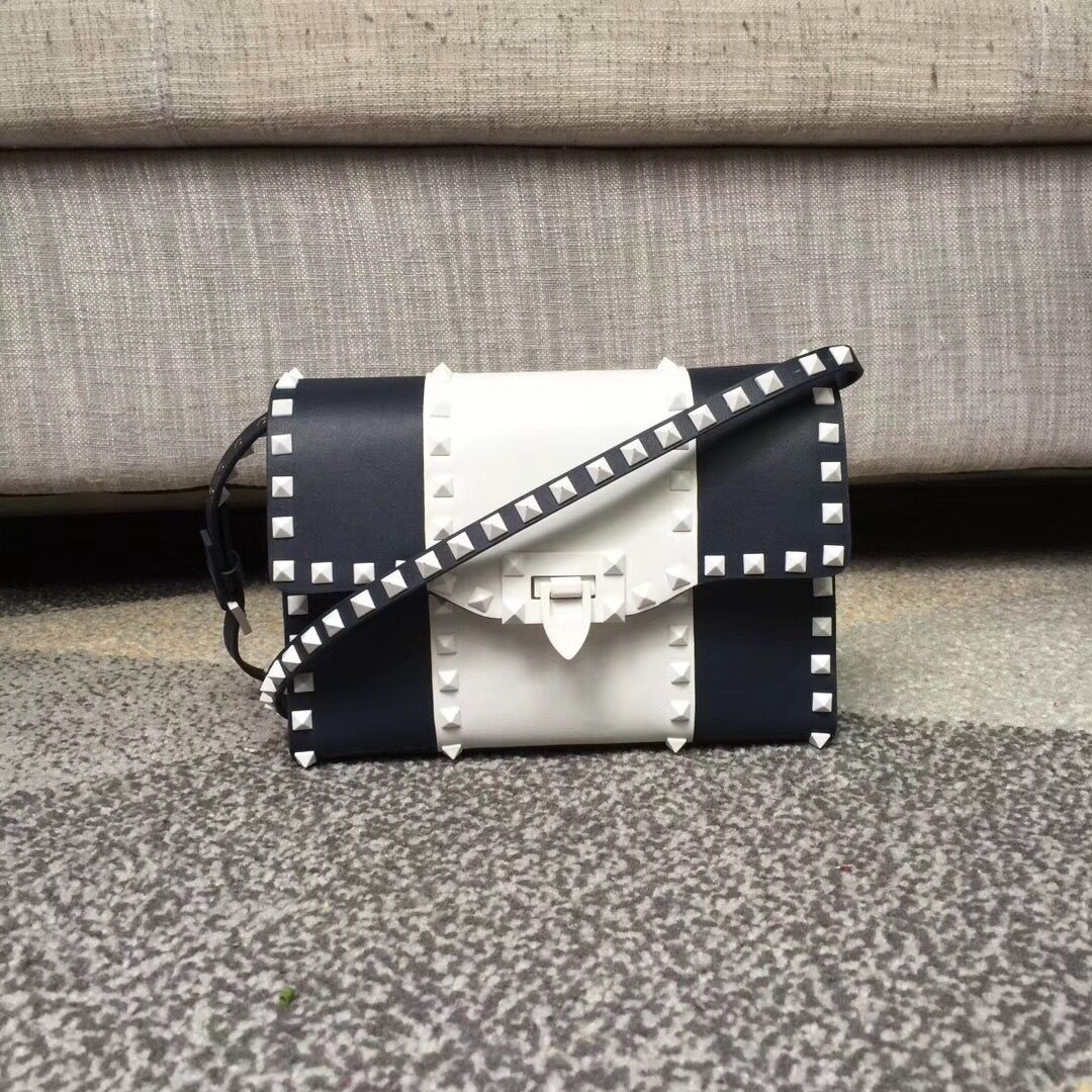 Valentino Free Rockstud Small Crossbody Bag Navy
