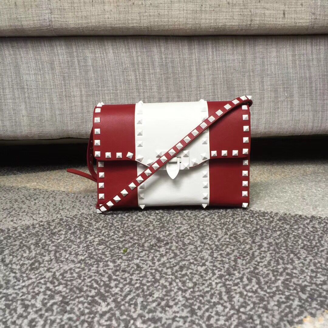 Valentino Free Rockstud Small Crossbody Bag Red