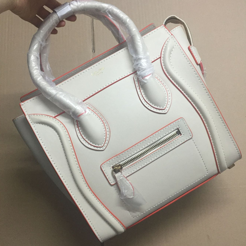 Celine Medium Luggage Tote Beige Orange