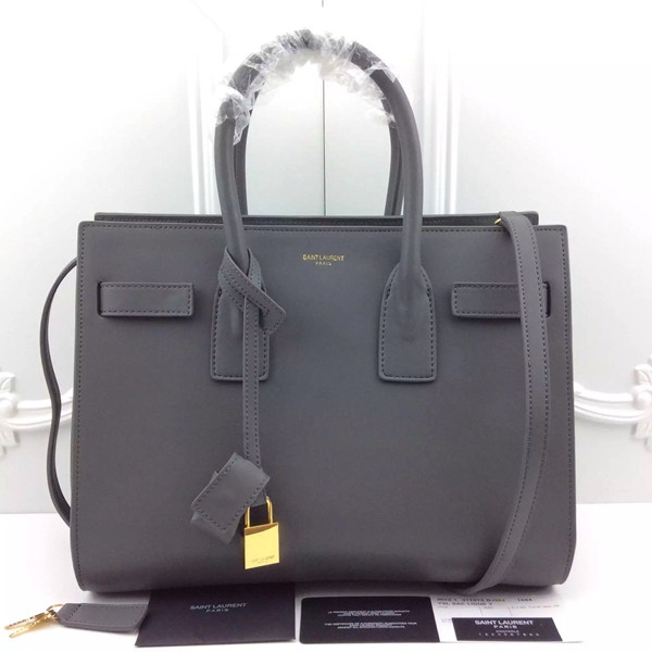 16a5b2f0dc YSL Grey Downtown Tote Cow Leather Bags  RH0959    Buy replica ...