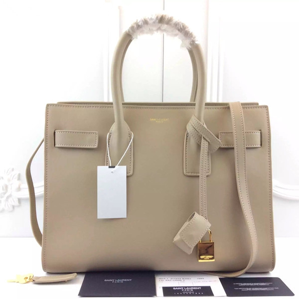YSL Apricot Downtown Tote Cow Leather Bags