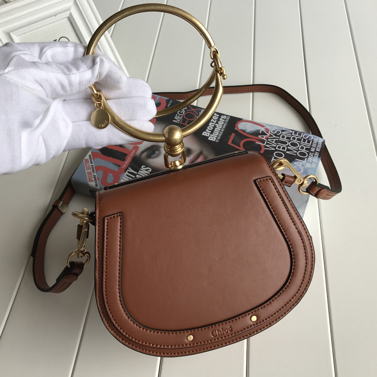 Chloe Small Nile Bracelet Bag Brown