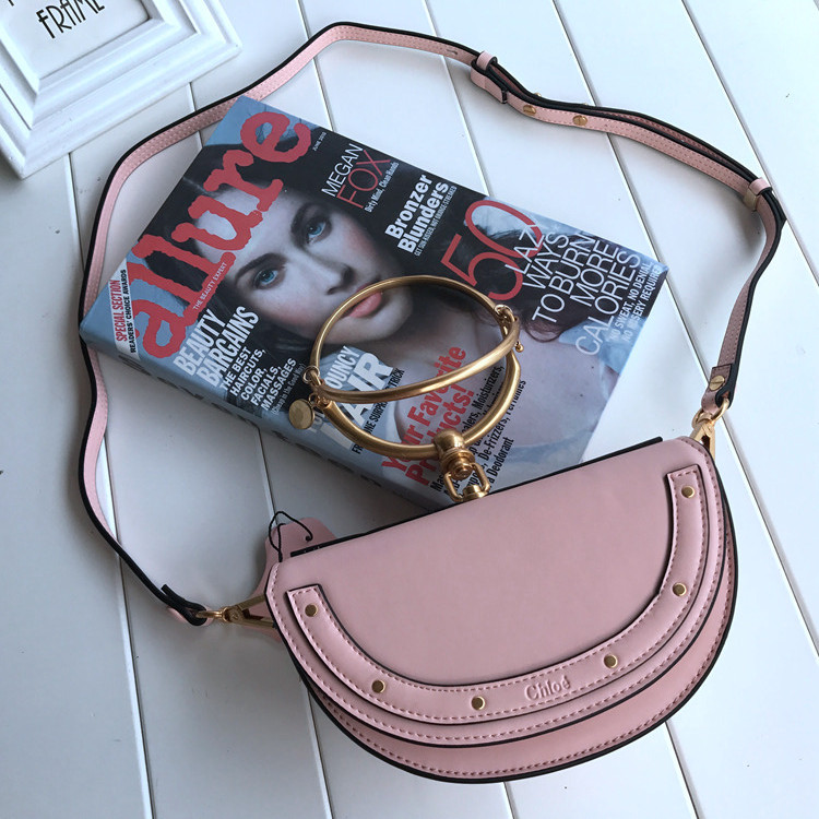 Chloe Small Nile Minaudiere Bag Pink