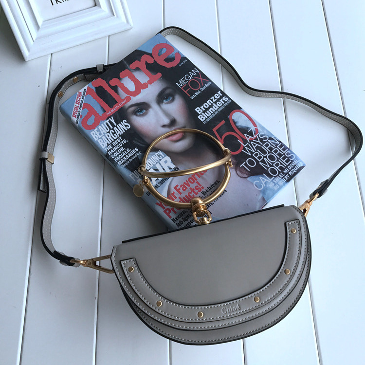 Chloe Small Nile Minaudiere Bag Grey
