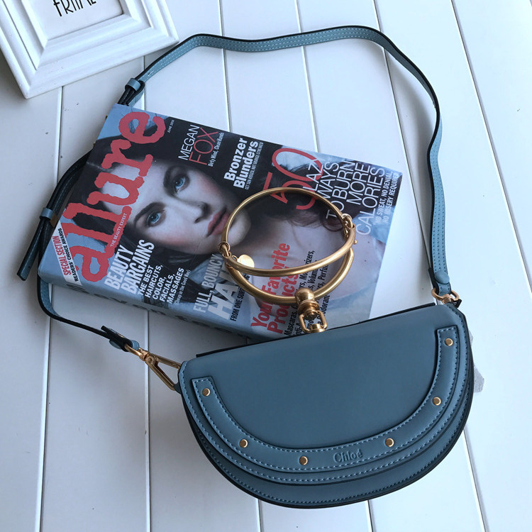 Chloe Small Nile Minaudiere Bag Blue
