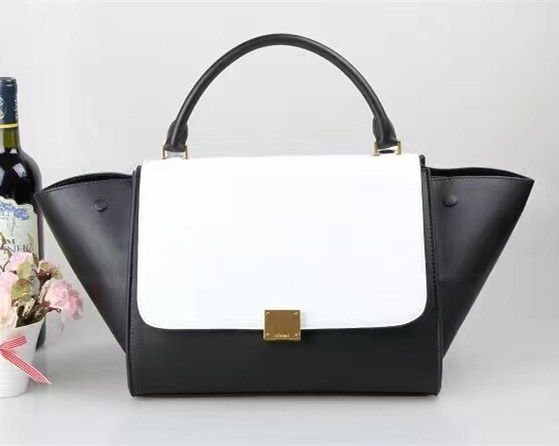 Celine Large Trapeze Bag Black White