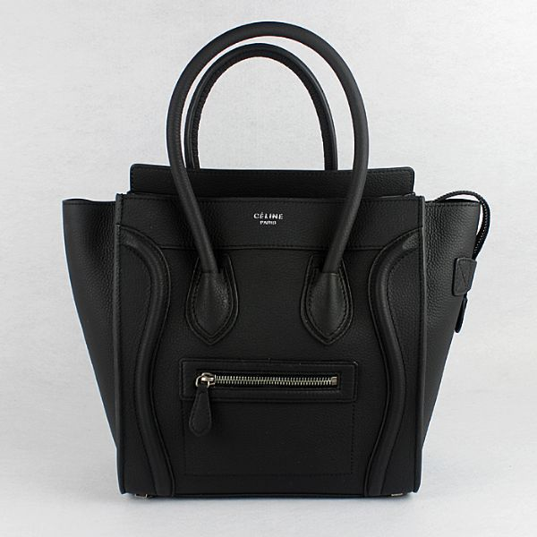 Celine Medium Luggage Tote Neon Black Bags