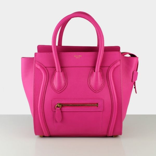 Celine Medium Luggage Tote Rose Leather Bags