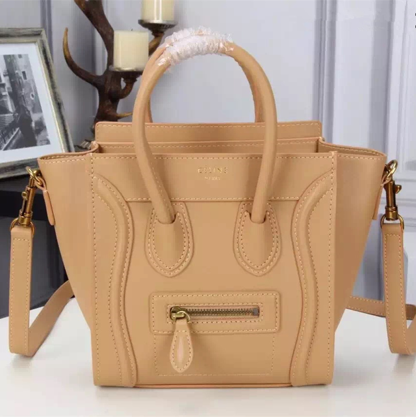 Celine Small Luggage Tote Camel Bag 20cm