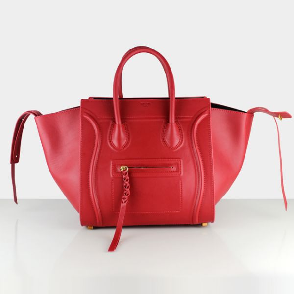 Celine Red Boston Cowhide Bags