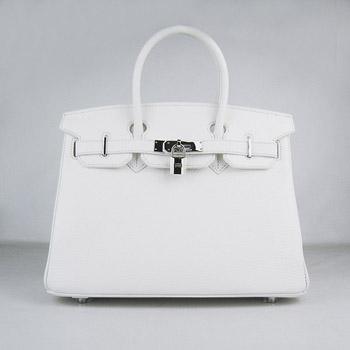 3fa61287e4fc Hermes Birkin 30cm Togo leather Handbags white silver  RH0304    Buy ...