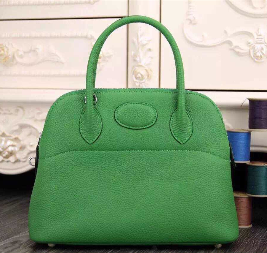 Hermes Bolide 31cm Togo Leather Green Bag