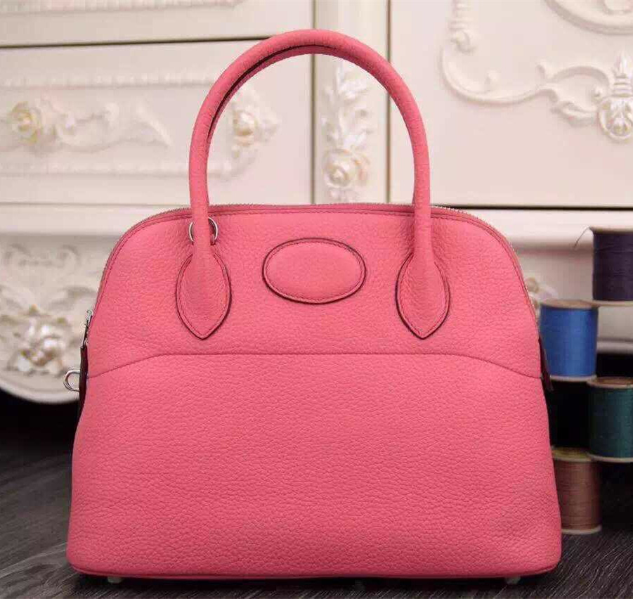 Hermes Bolide 31cm Togo Leather Pink Bag