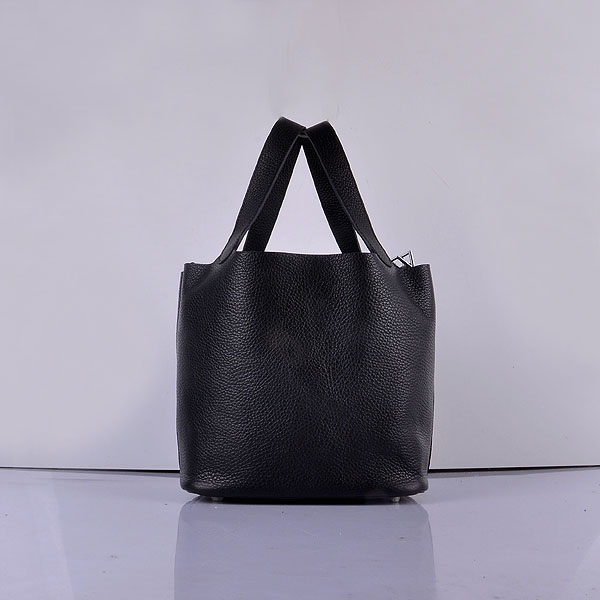 Hermes Calf Leather 8616 Handbag Black