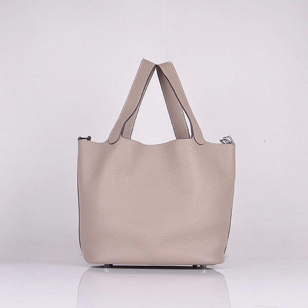 Hermes Calf Leather 8616 Handbag Gray