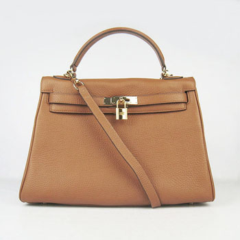 Hermes Kelly 32cm Togo leather 6108 light coffee golden