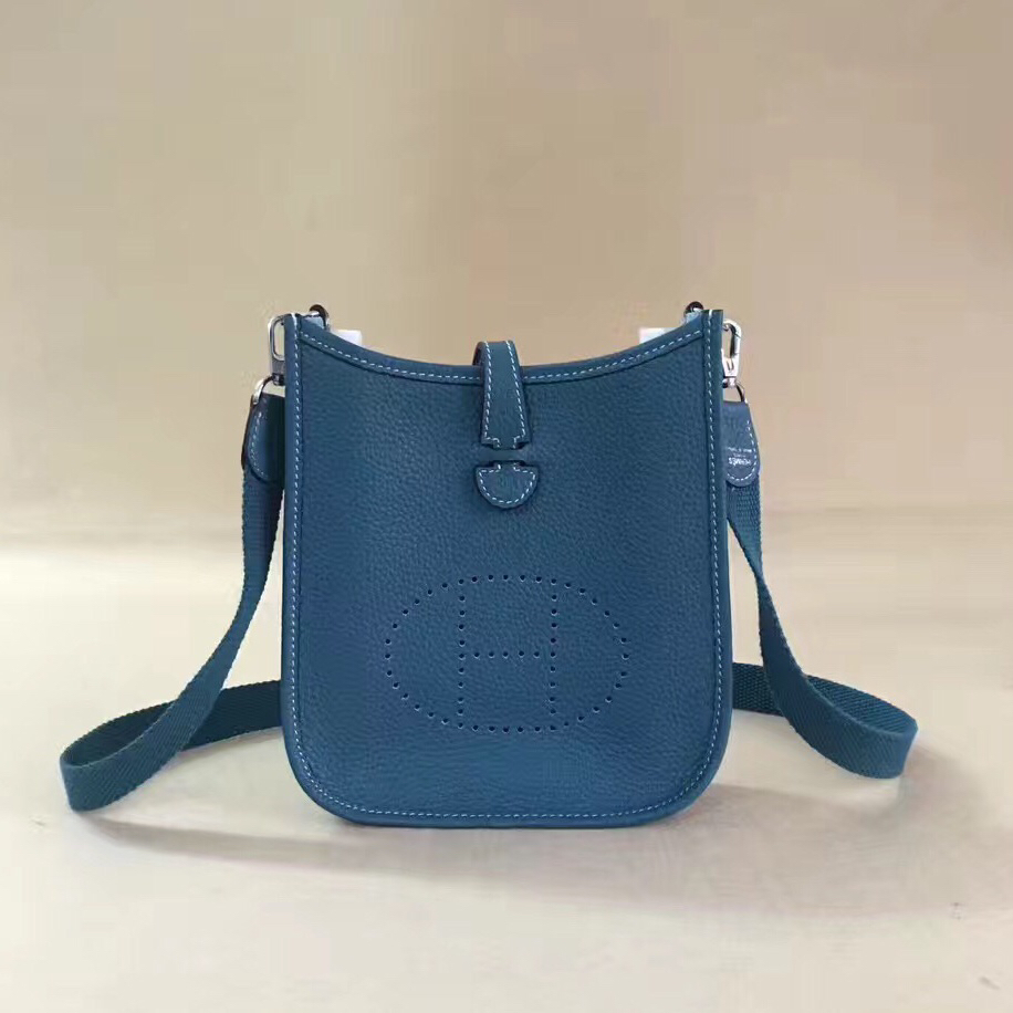 Hermes Mini Evelyne TPM Bag Blue