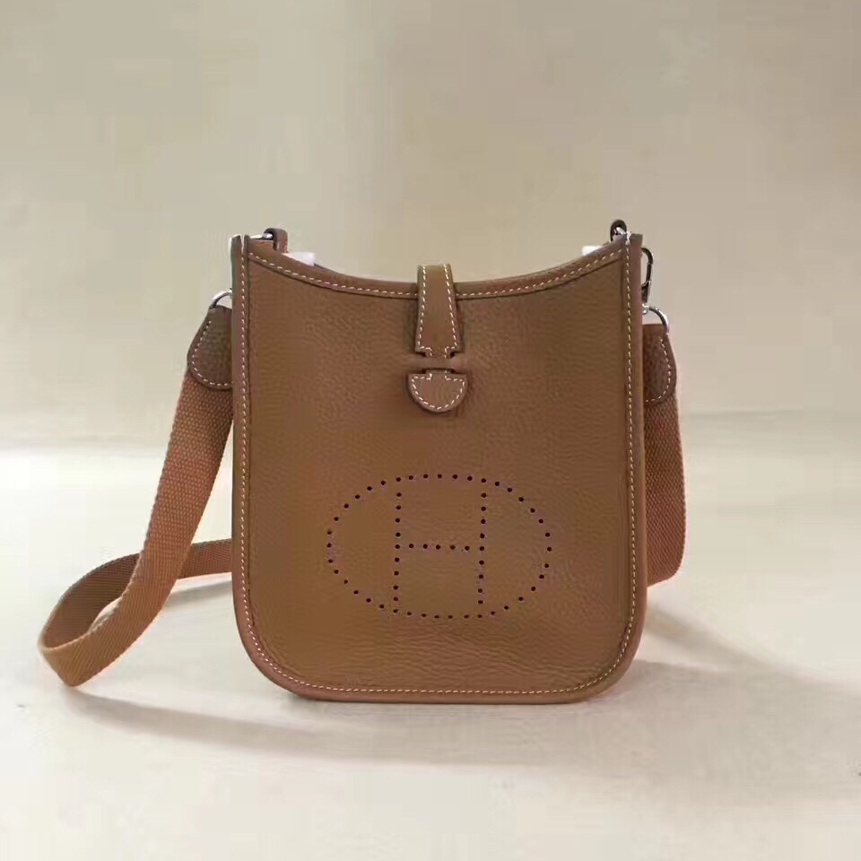 Hermes Mini Evelyne TPM Bag Camel