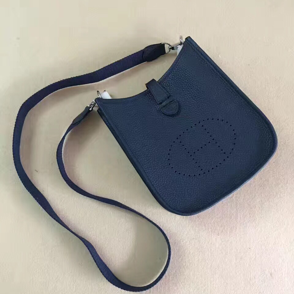Hermes Mini Evelyne TPM Bag Dark Blue