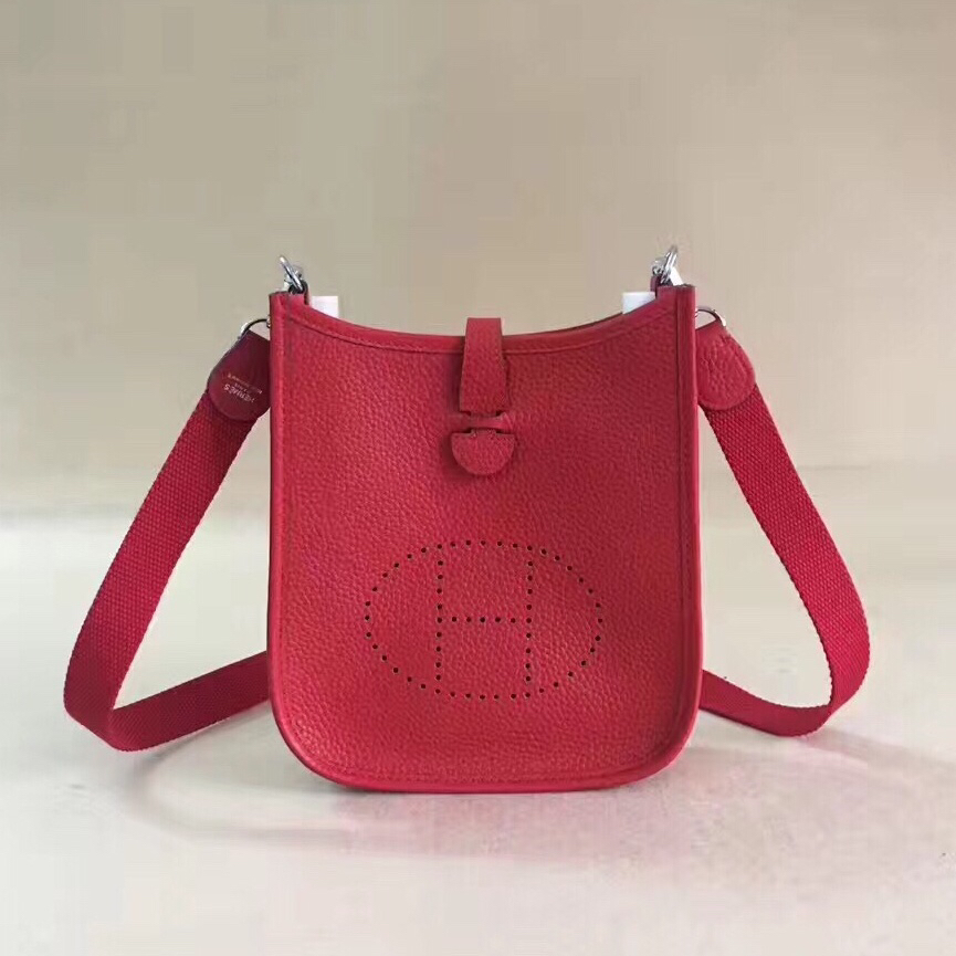 Hermes Mini Evelyne TPM Bag Red