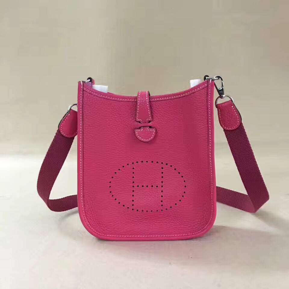Hermes Mini Evelyne TPM Bag Rose