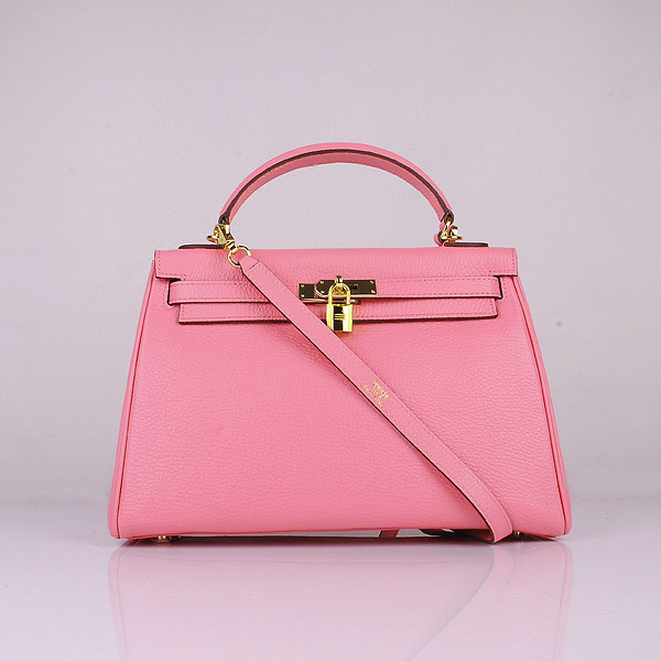 Hermes Kelly 32cm Togo leather 6108 cherry pink golden
