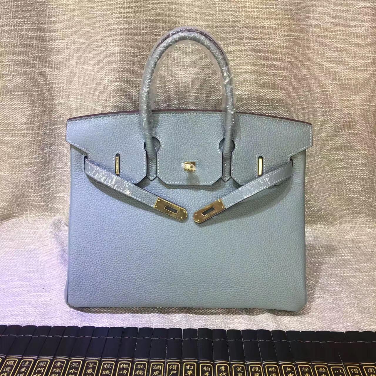 7b50159b6ea0 Hermes Birkin 30cm Togo leather Handbags grey gold  RH0302    Buy ...