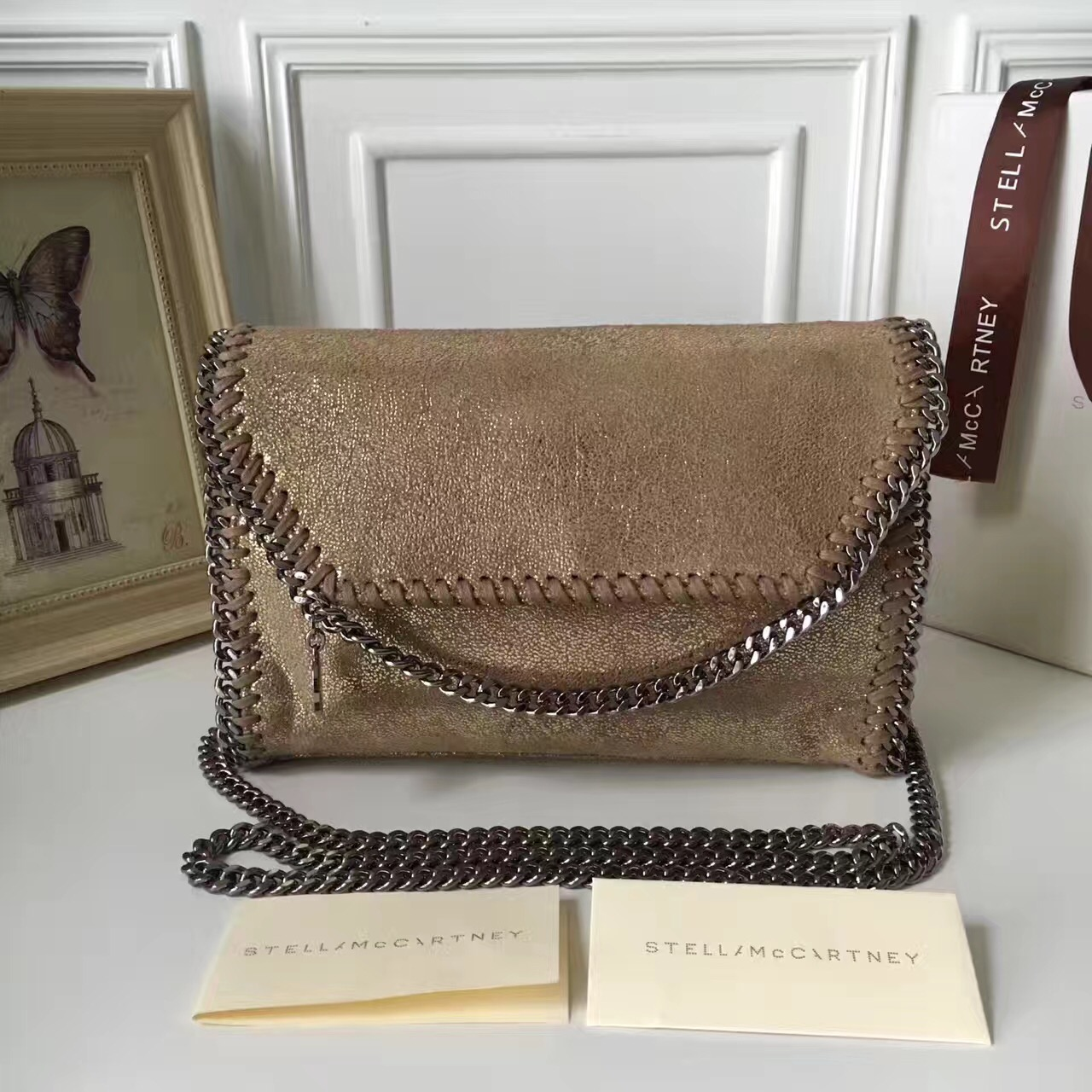 d355b3a794 Stella McCartney Falabella Shaggy Deer Mini Bag Metallic Gold ...