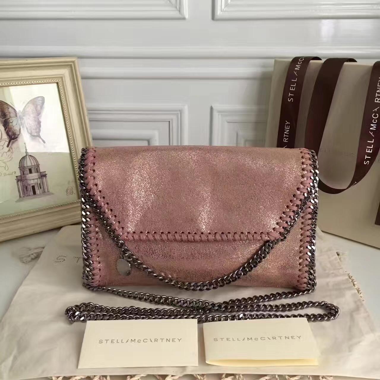 26244a56af58 Stella McCartney Falabella Shaggy Deer Mini Bag Metallic Pink ...