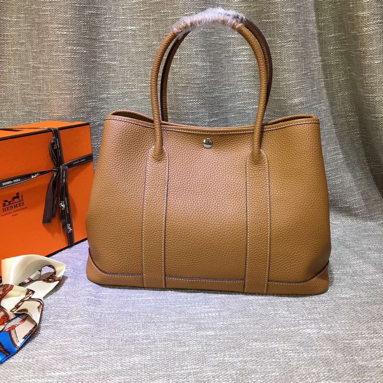 Hermes Garden Party Handbag Large 36cm Brown