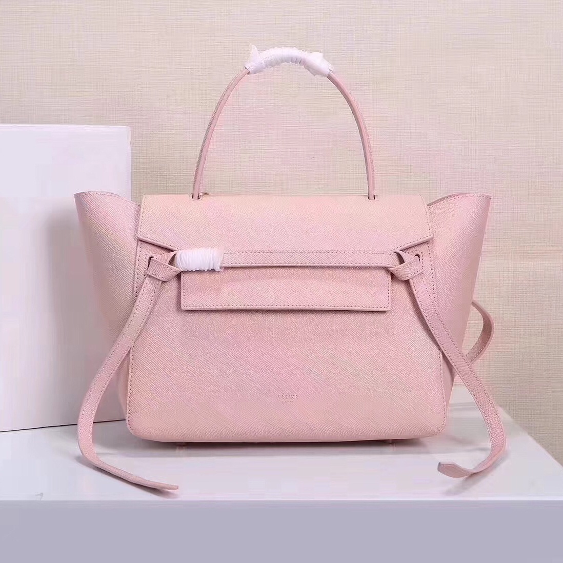 Celine Belt Bag Pink Epsom Leather Tote Handbag