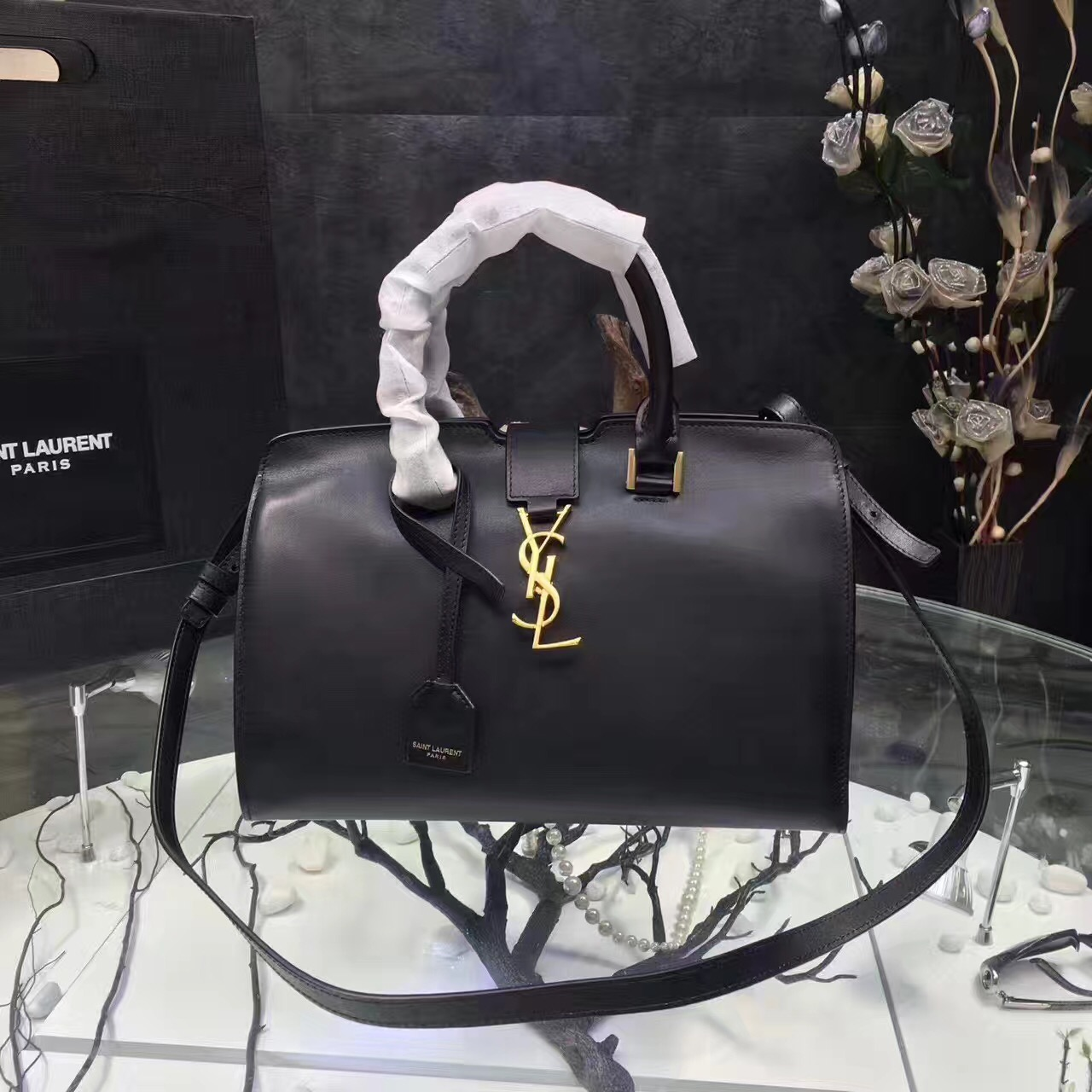 d527e6b9a7 YSL Rose Downtown Tote Cow Leather Bags 2035  RH0980    Buy replica ...