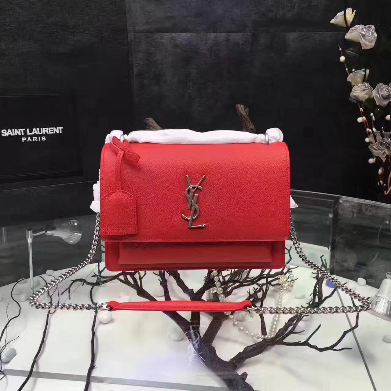 641fa6186c7 Top Quality YSL Envelope Shoulder Bag 23cm Black [RH0814] : Buy ...