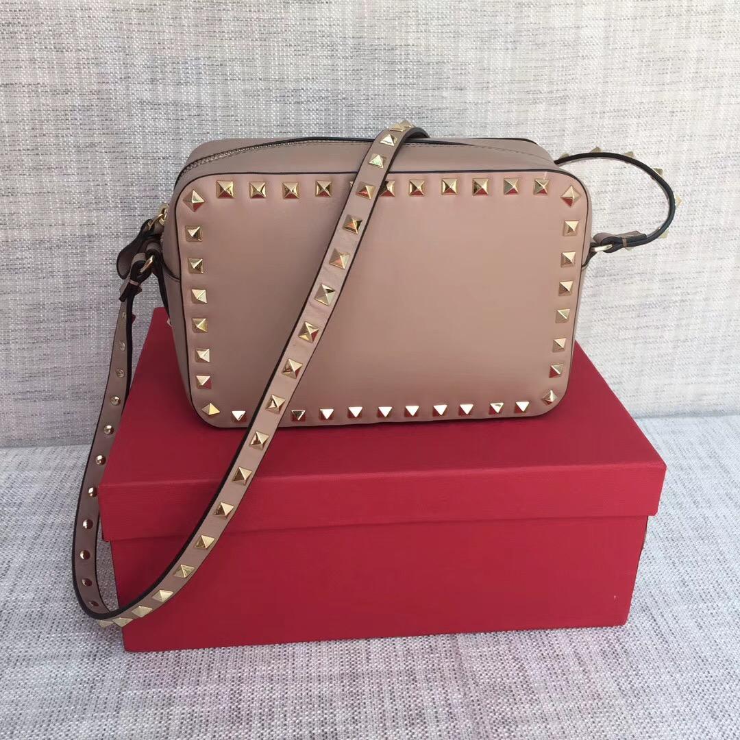 79d30d2f31de Valentino Garavani Rockstud Crossbody Bag 5526 Nude  RH0852    Buy ...
