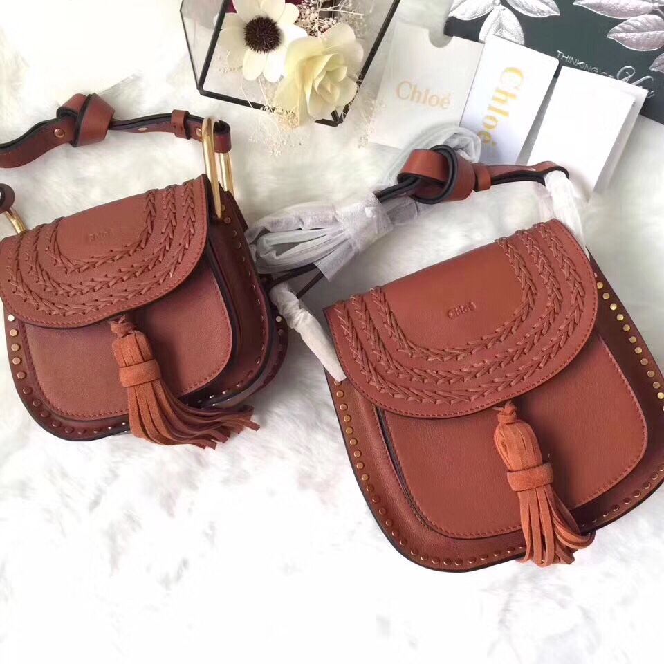 Chloe Hudson Crossbody Leather Bag Brown