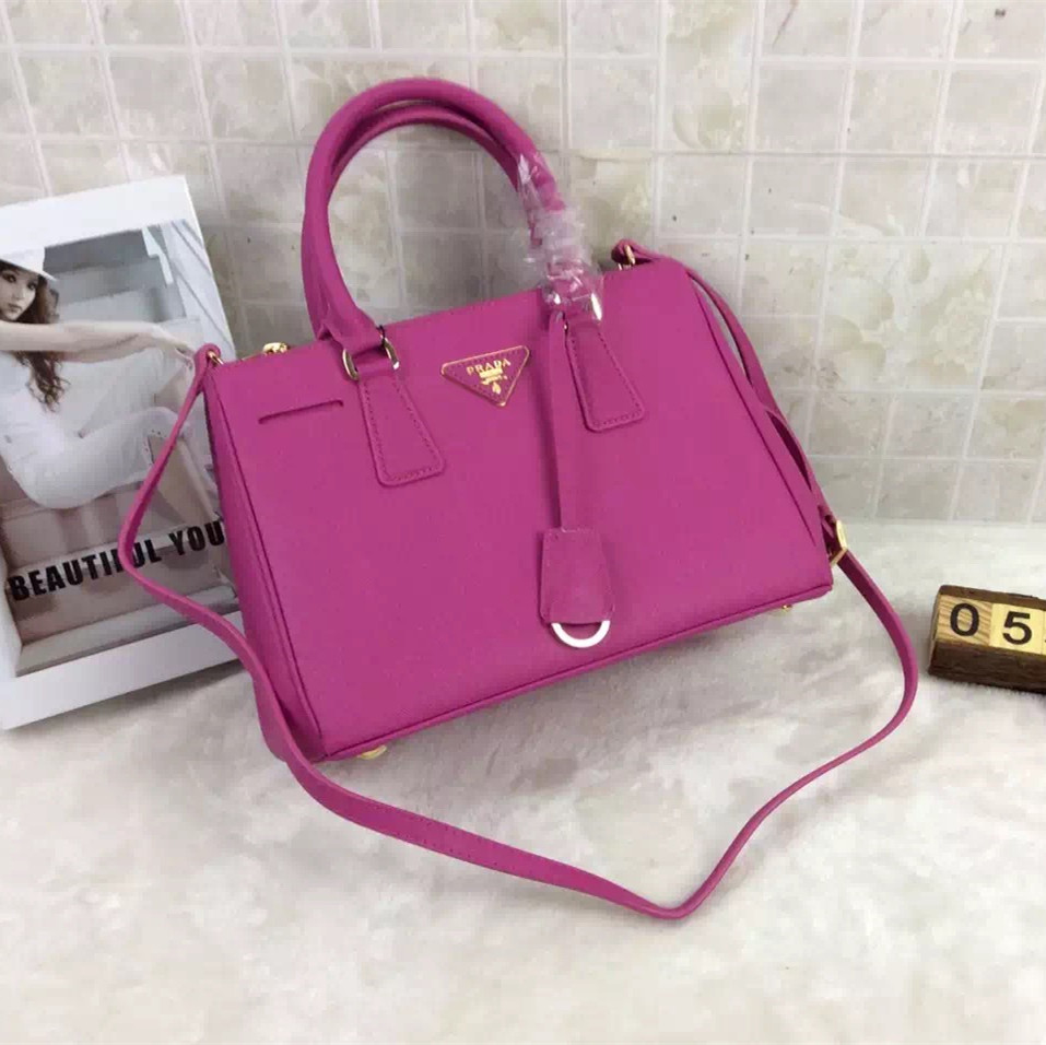 Prada Galleria Bag 1801 Saffiano Leather 30cm Rose