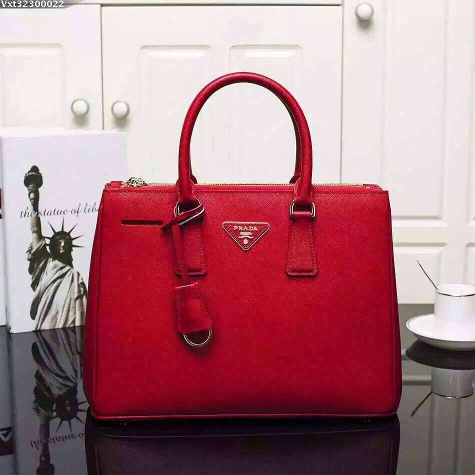 Prada Galleria Bag 2274 Saffiano Leather 33cm Red