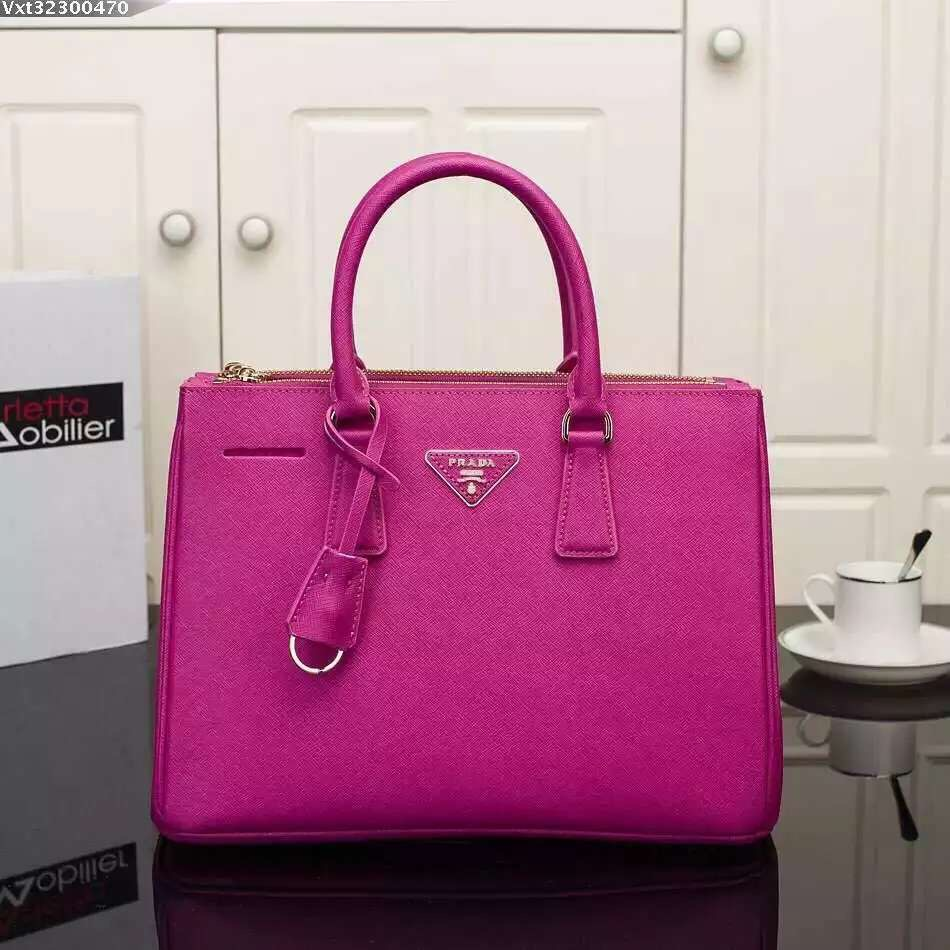 Prada Galleria Bag 2274 Saffiano Leather 33cm Rose