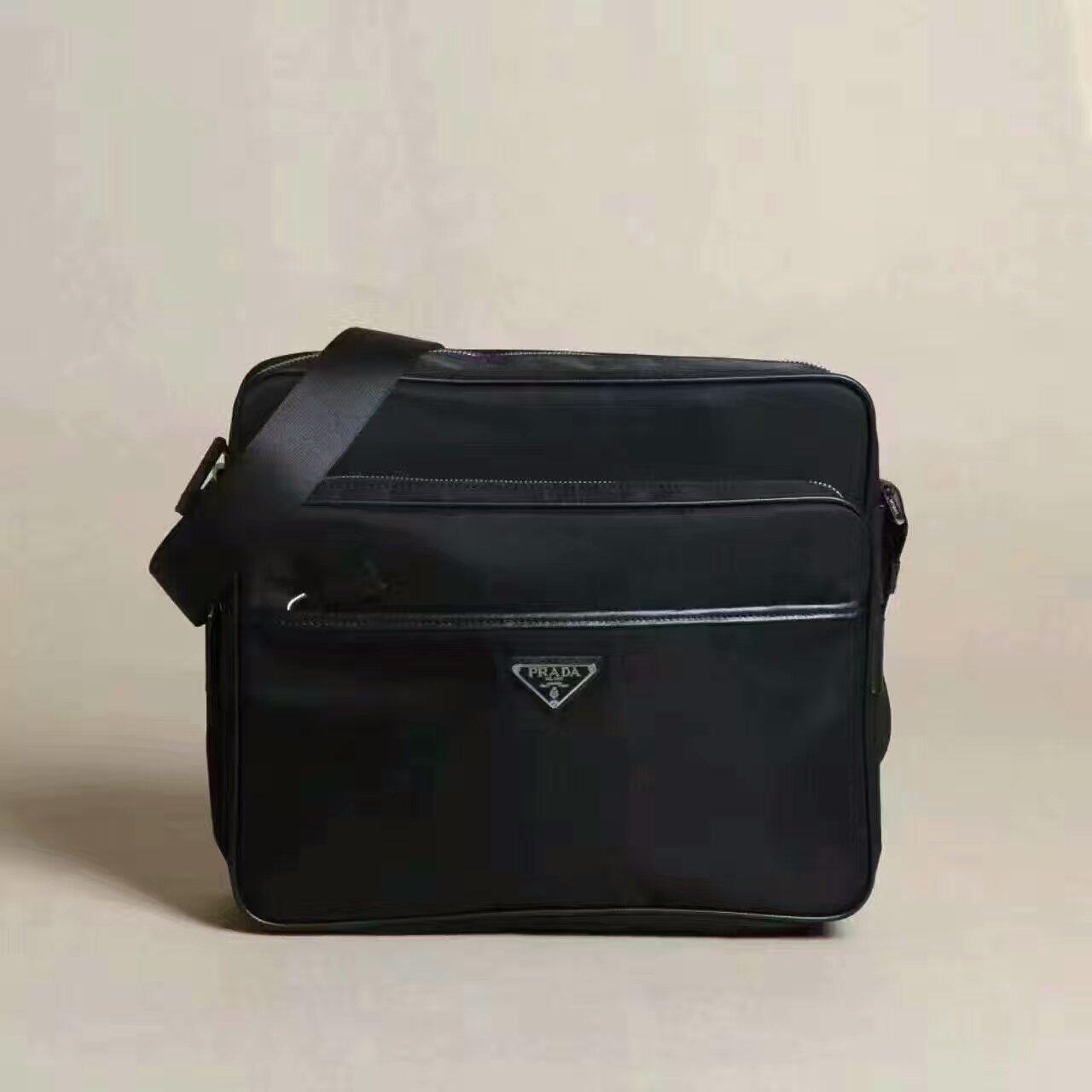 b32b0a02b5572d Prada Men's Canvas Crossbody Bag 1028 Black [RH0698] : Buy replica ...