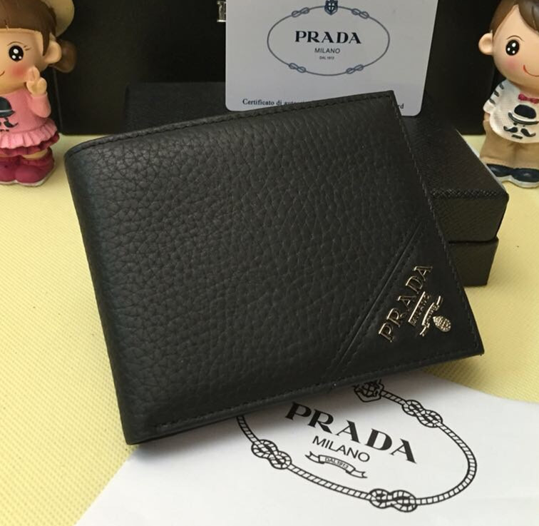 Prada Men's Leather Wallet 0336 Black