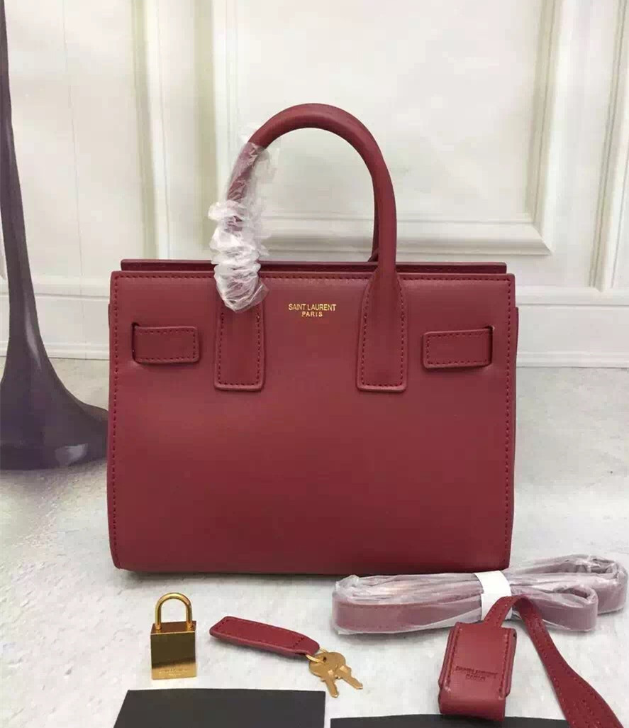 Saint Laurent Sac De Jour Small Tote Wine 22cm