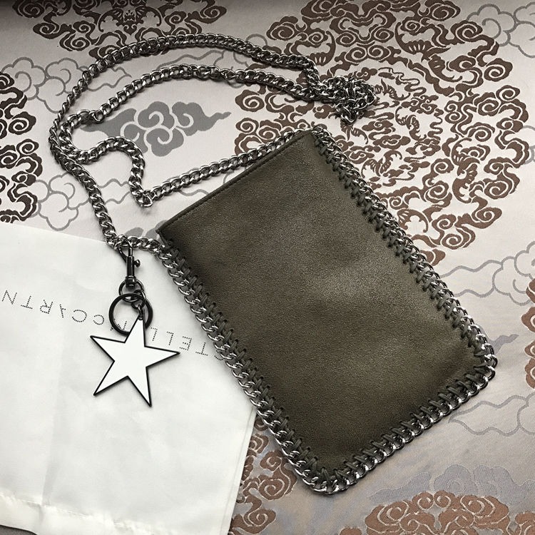 Stella McCartney Crossbody Phone Pouch Bag Army Green