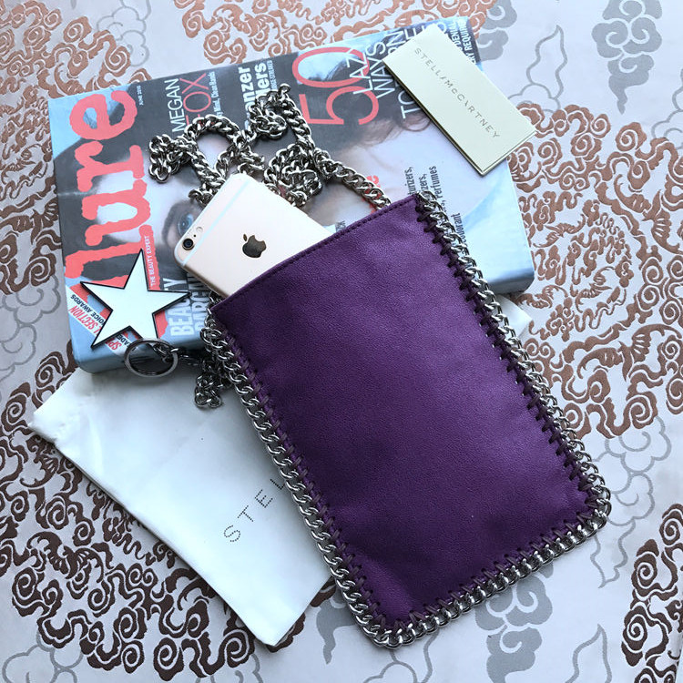 Stella McCartney Crossbody Phone Pouch Bag Purple
