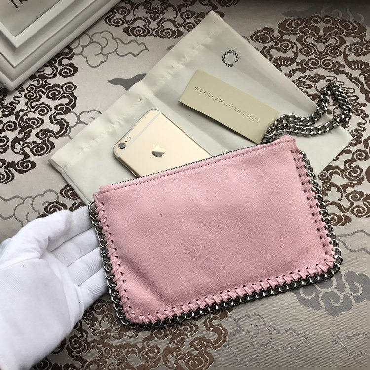 Stella McCartney Small Pouch Clutch Pink