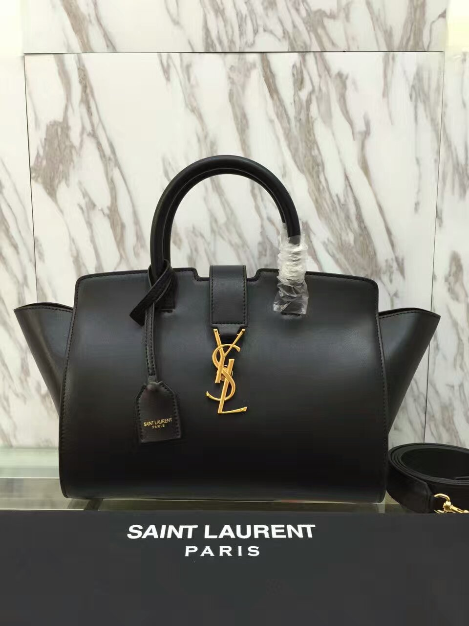 YSL Downtown Cabas Tote 30cm Black