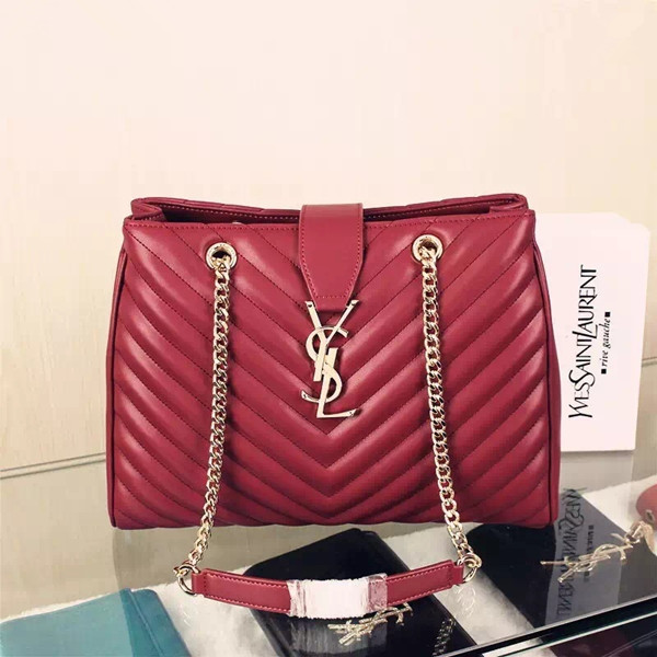 f805ca67cefd YSL Saint Laurent Monogram Shopping Bag Burgundy  RH0995    Buy ...