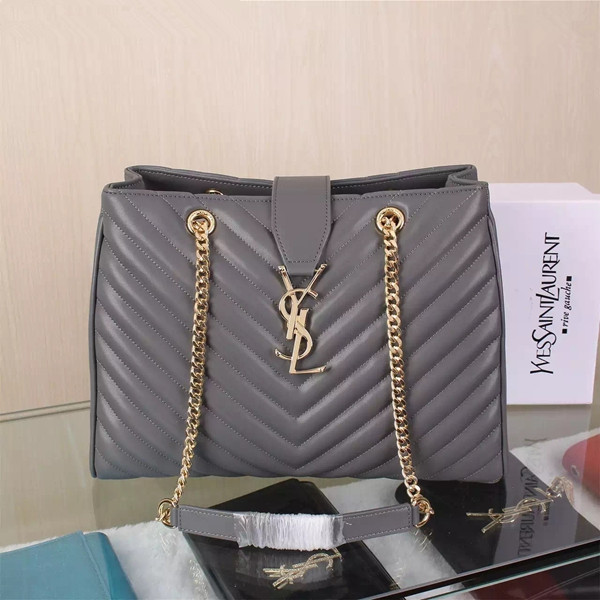 1b7fc87d8d7b YSL Saint Laurent Monogram Shopping Bag Grey  RH0997    Buy replica ...